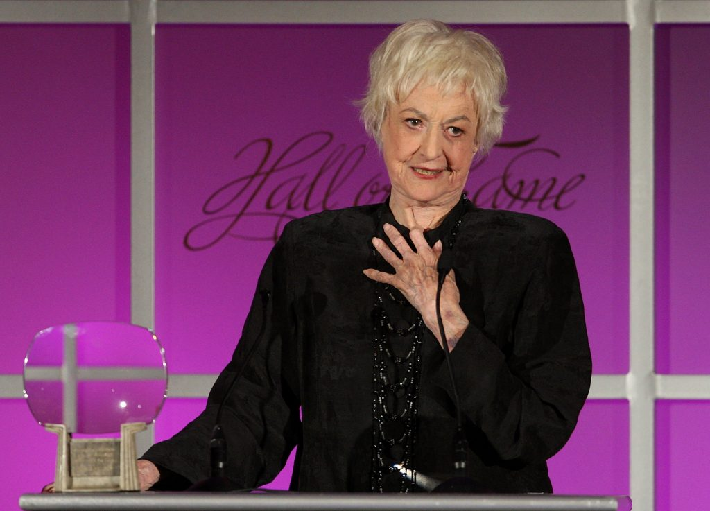 BEVERLY HILLS, CA - DECEMBER 09: Actress Bea Arthur speaks during the 2008 Academy of Television Arts & Sciences' Hall of Fame ceremony at the Beverly Hills Hotel on December 9, 2008 in Beverly Hills, California. (Photo by Frederick M. Brown/Getty Images)