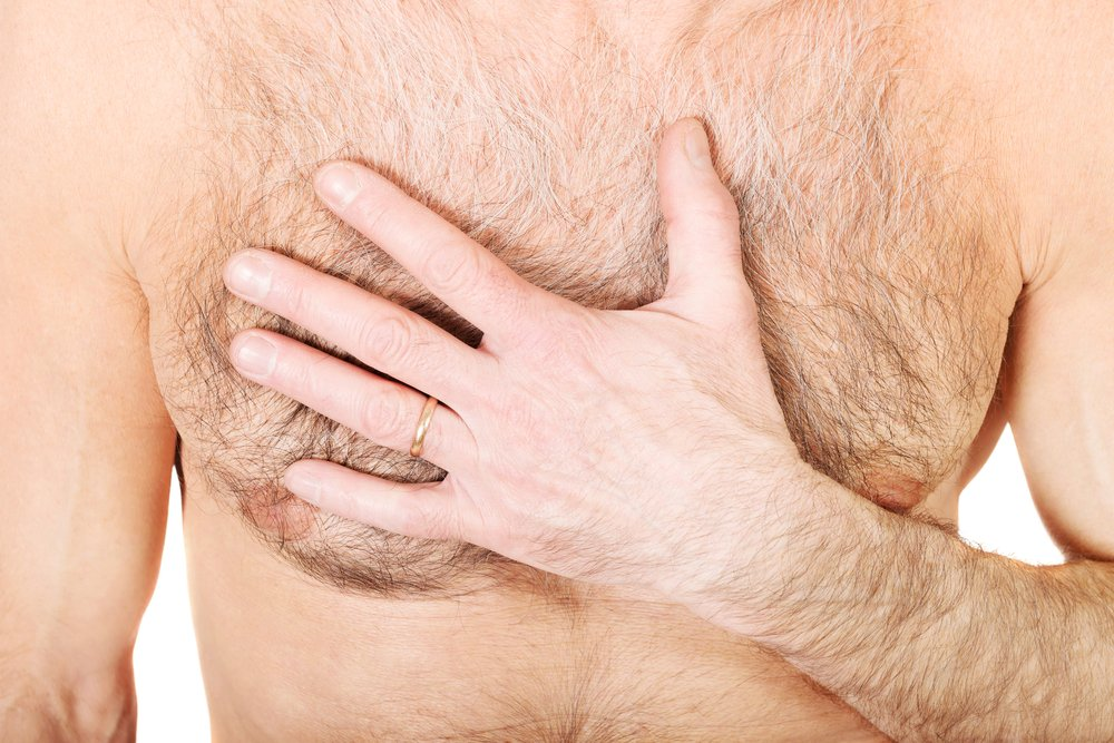 men breast lumps