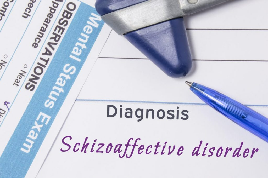 diagnosis Schizoaffective disorder