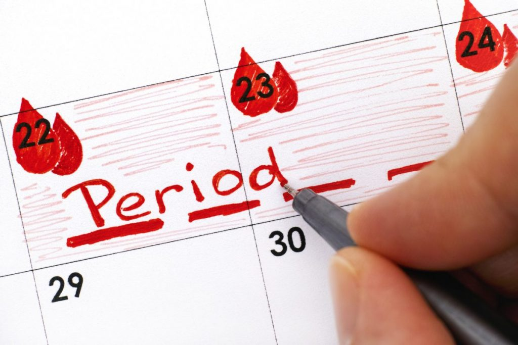 menstruation Inflamed ovaries