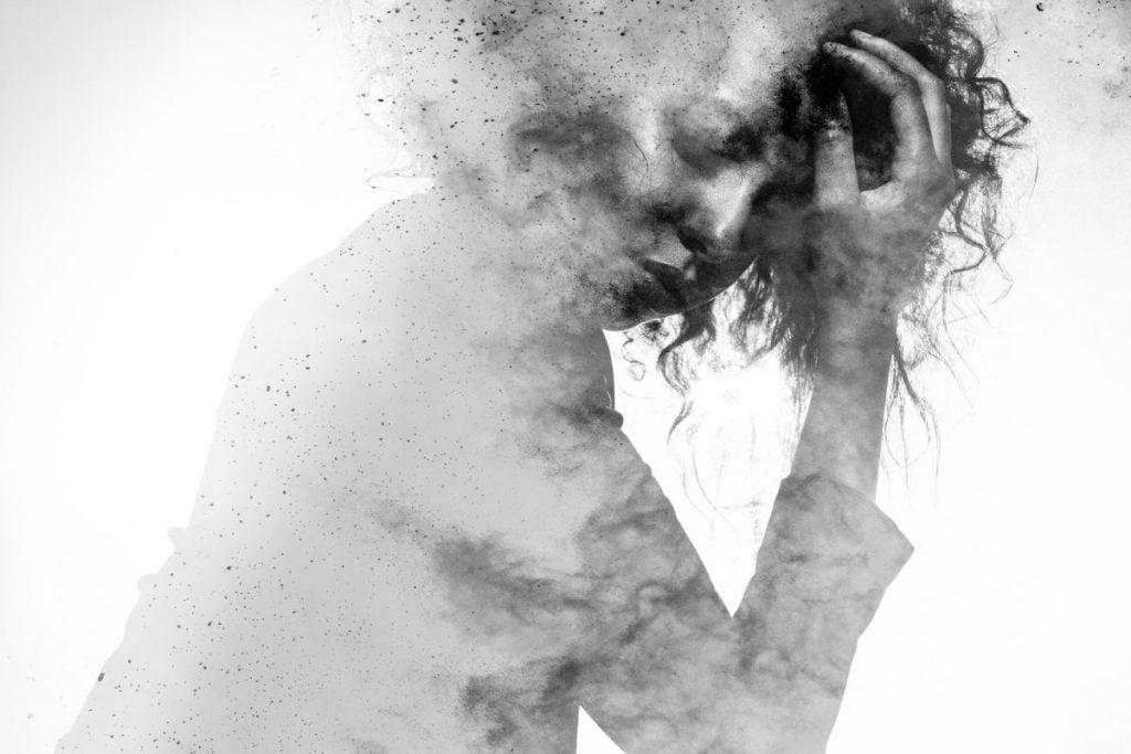 anxiety smoking white gray matter