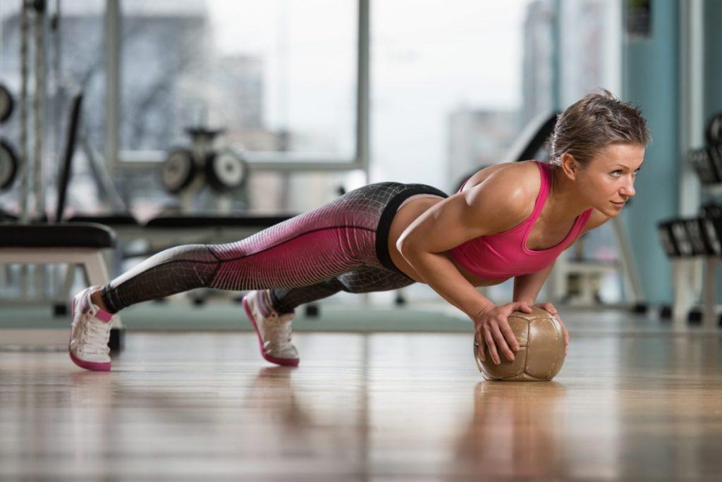 push ups medicine ball exercises