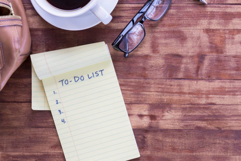to do list waking up early