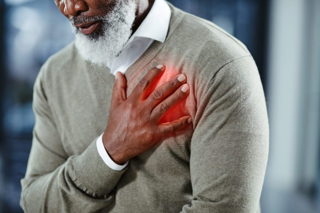man heart hypertension