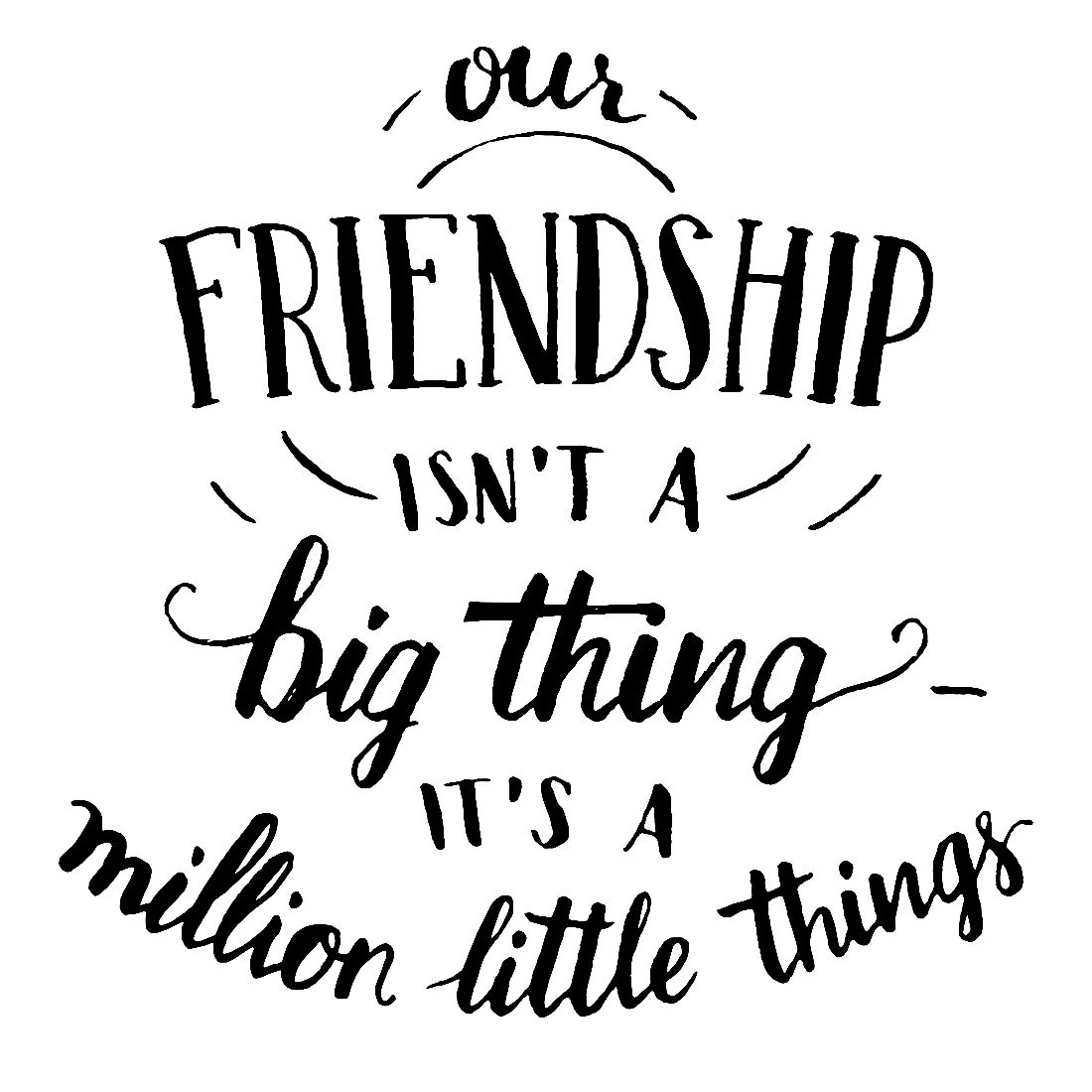 little things friendship