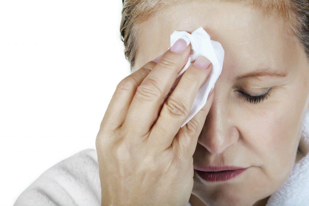 discharge scratched cornea