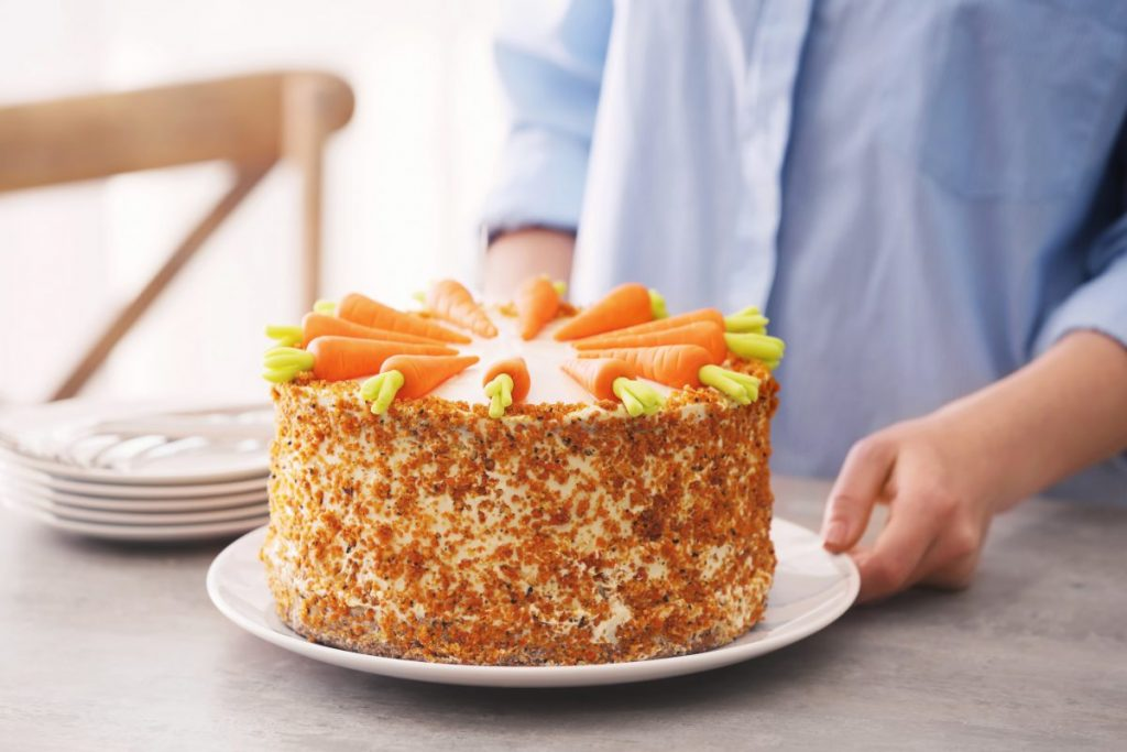 top carrot cake
