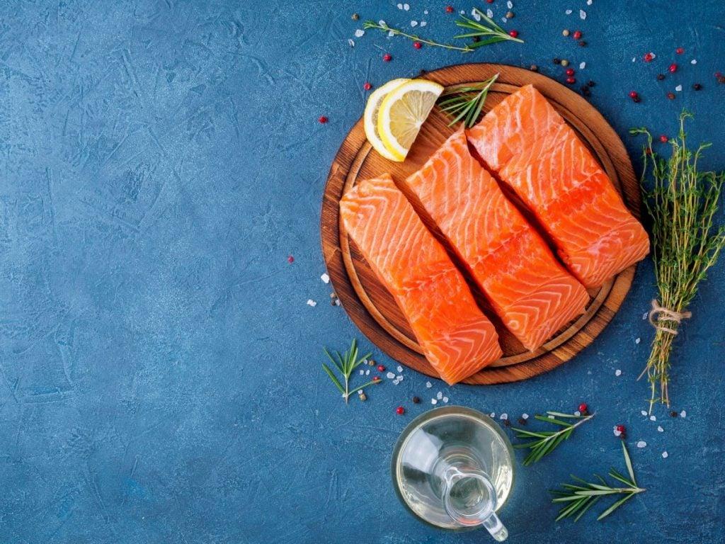 lightly season salmon before baking