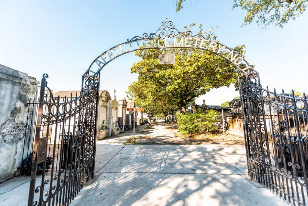 Entrance gate to Lafayette Cemetery