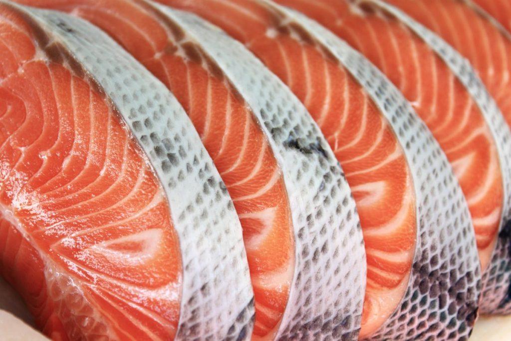 salmon steaks grocery store