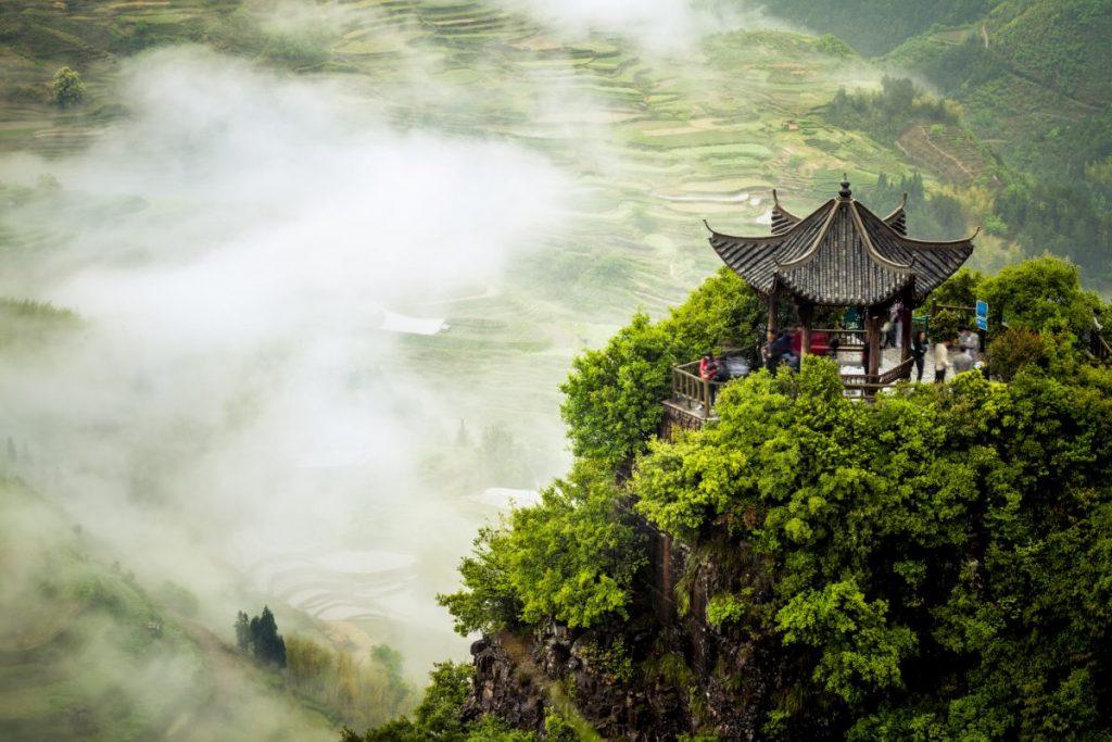 terraced fields Yunnan china