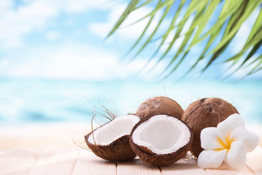 coconuts liquid sloshing ripe