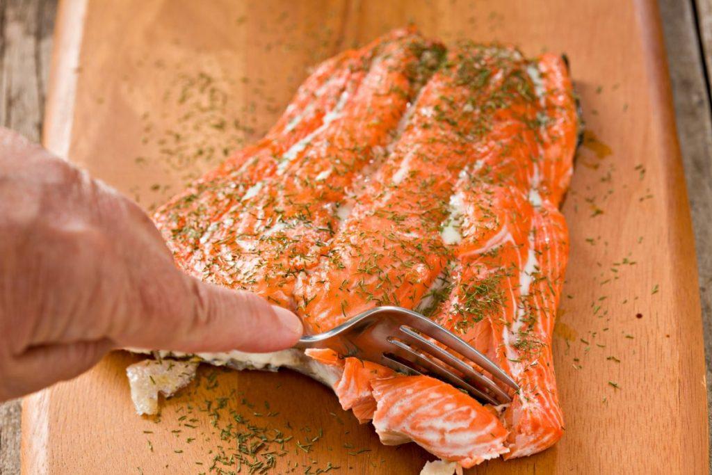 serve salmon equal portions