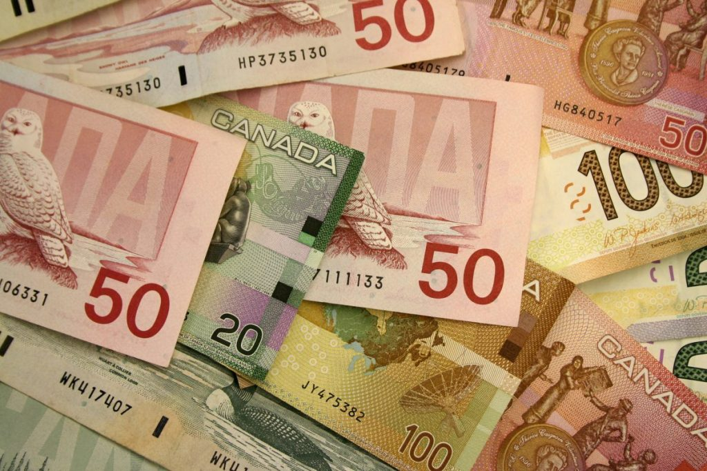 Pile of Canadian money