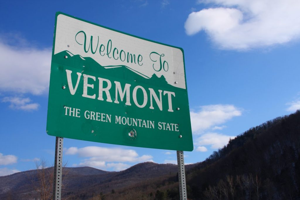 welcome to vermont state sign