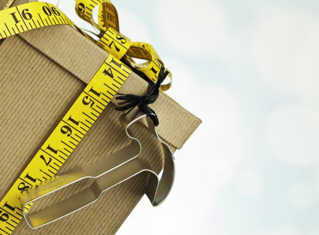 measuring tape wrapping paper
