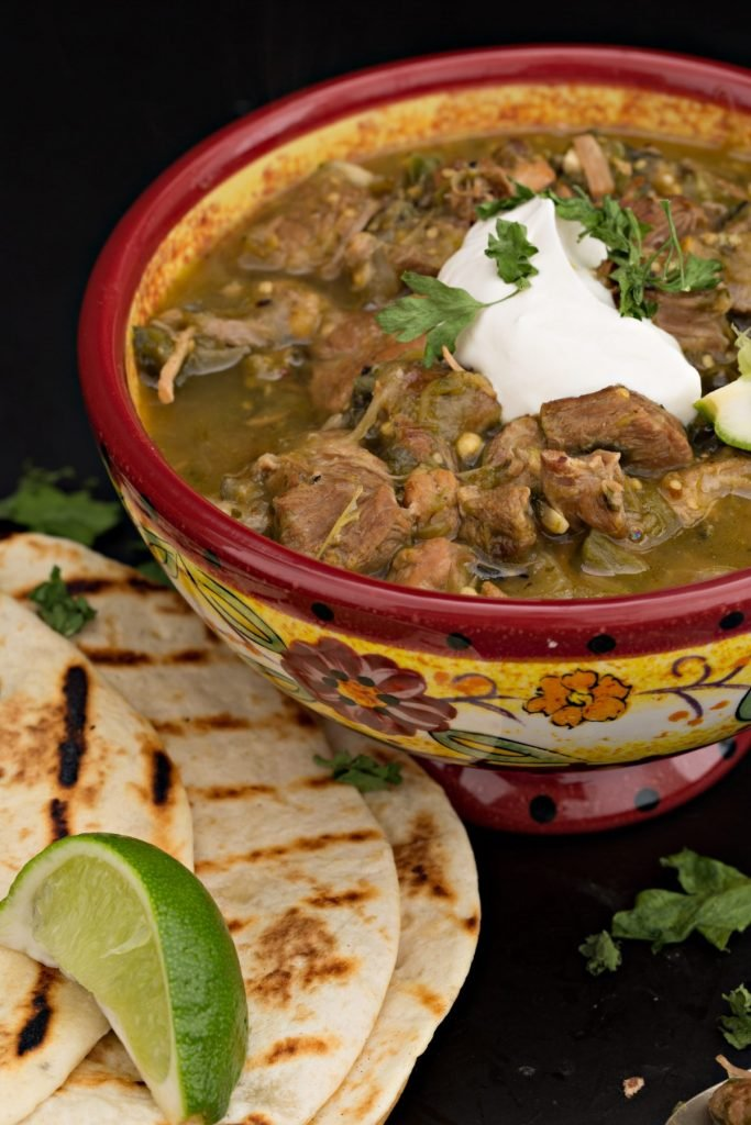 green traditional chili