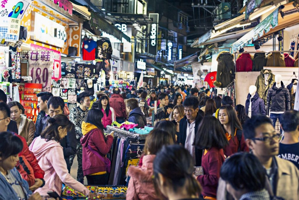 Shilin Night Market Street Scene