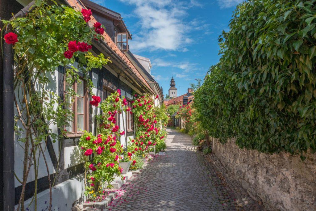 Visby street Gotland, Sweden