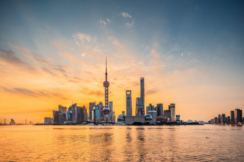 shanghai china skyline