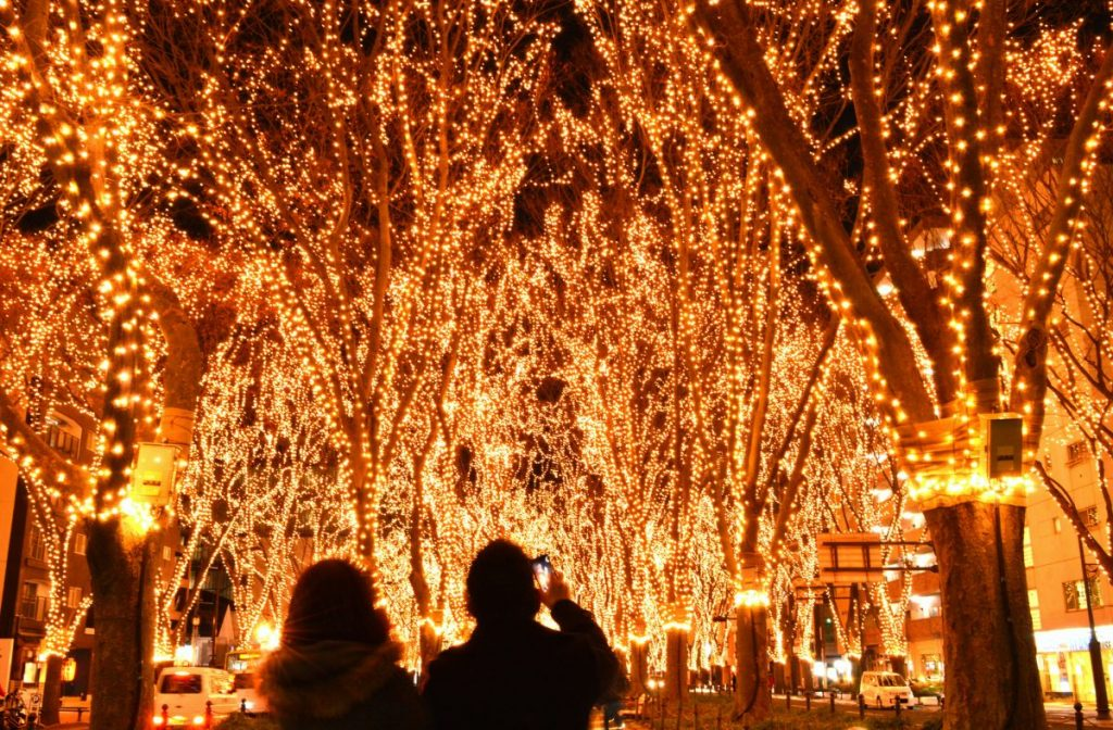 japanese illumination festival sendai