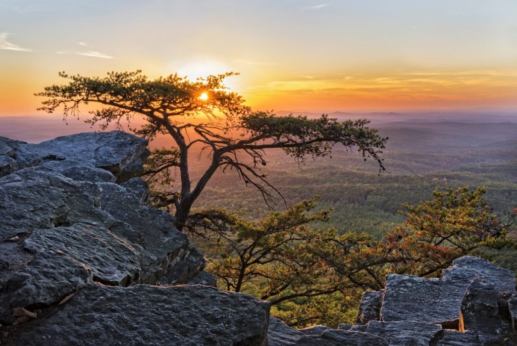 Take in a sunset from Alabama's highest point.