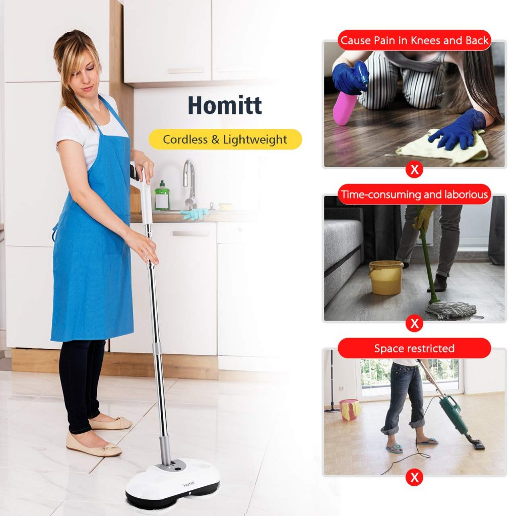 electric spin mop on amazon