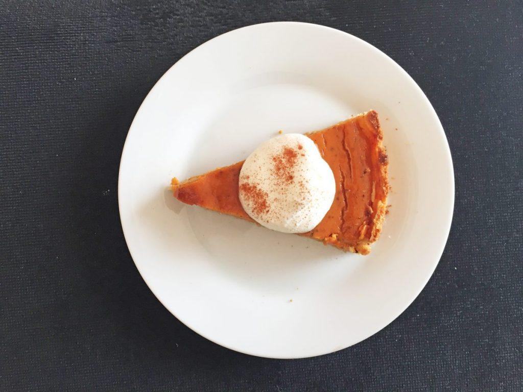 pumpkin or sweet potato pie