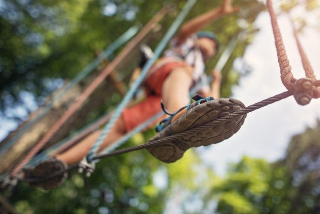 Calico Jack's ziplining rappelling swings