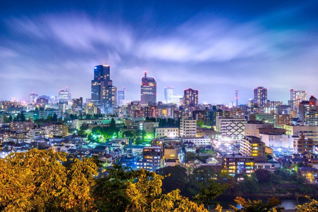 sendai japan cityscape