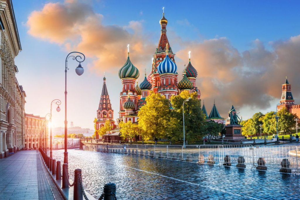 St. Basil's Cathedral in morning