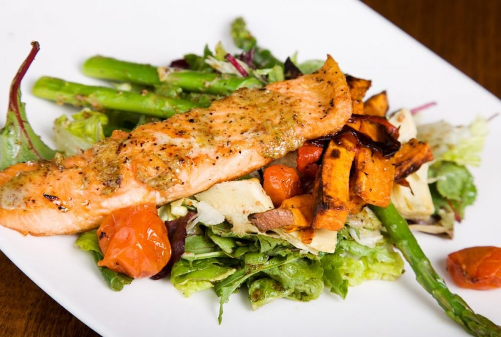 salmon with sides