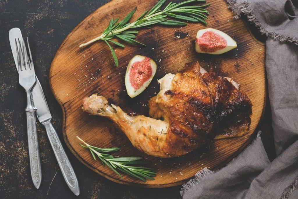 crispy fried chicken leg