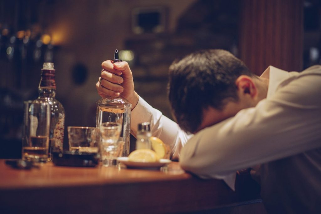 Alcohol addiction abuse