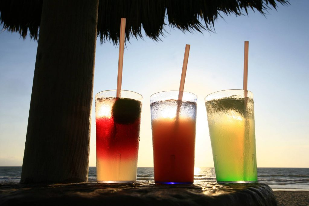 Three Cocktails on the Beach