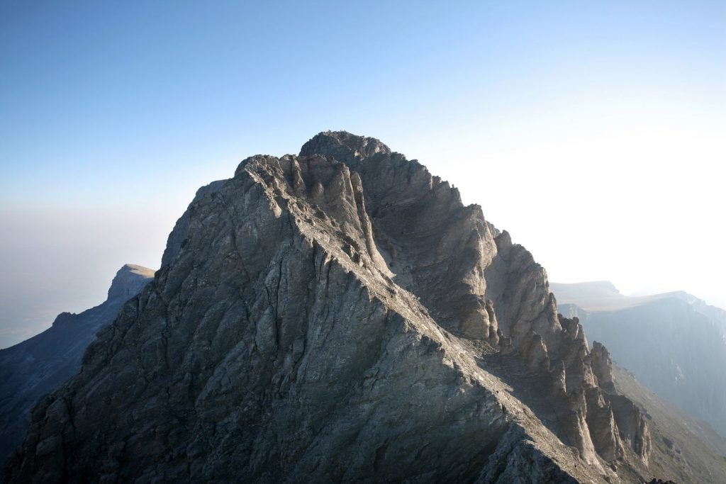 Summit of Mount Olympus from Mount Skala.
