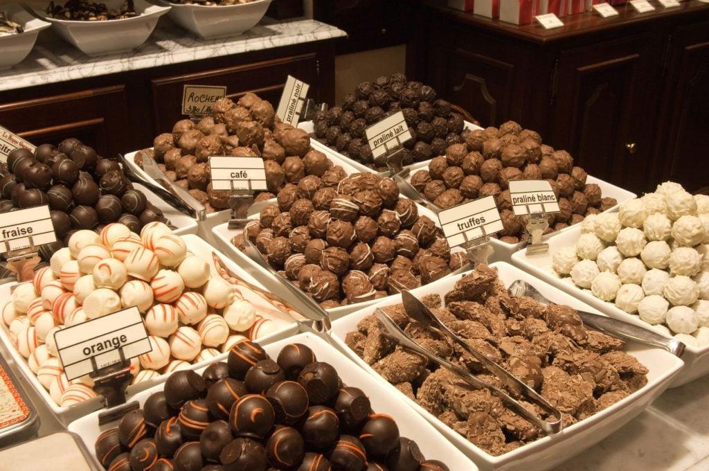 Chocolate shop Brussels Belgium