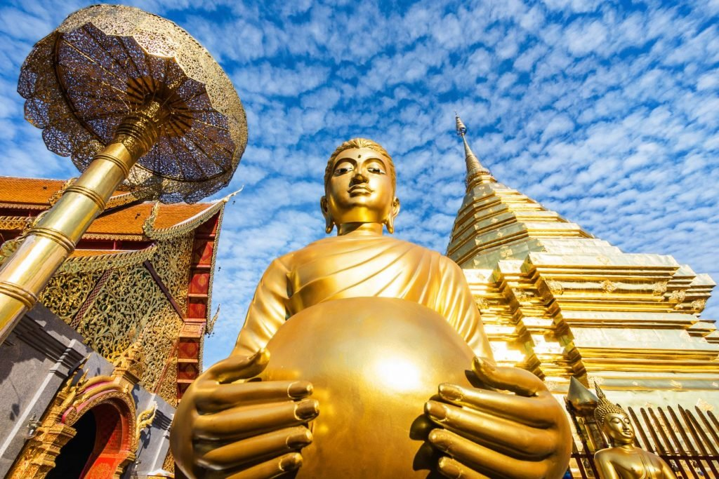 Wat Phra That Doi Suthep Buddhist Temple in Chiang Mai, Thailand