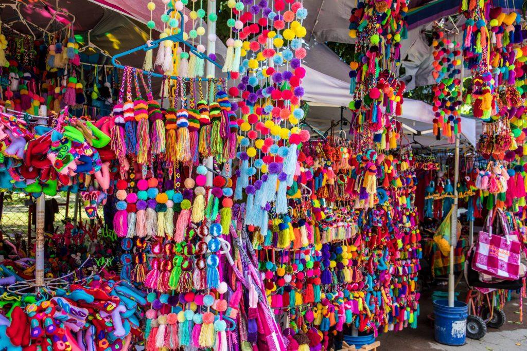 Pom-poms for sale in Sayulita, Mexico