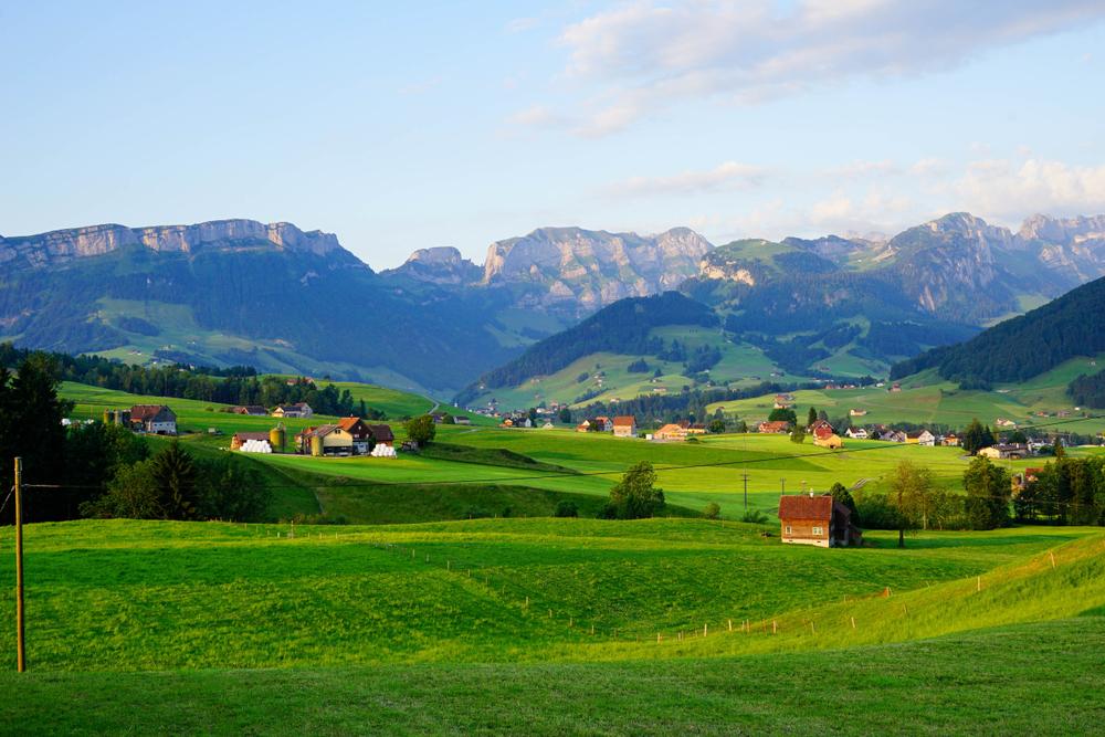 Beautiful Appenzell village in Switzerland