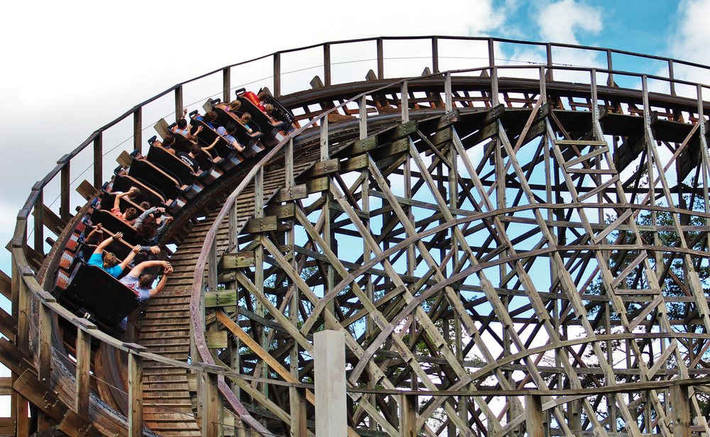 Dollywood wooden roller coaster ride