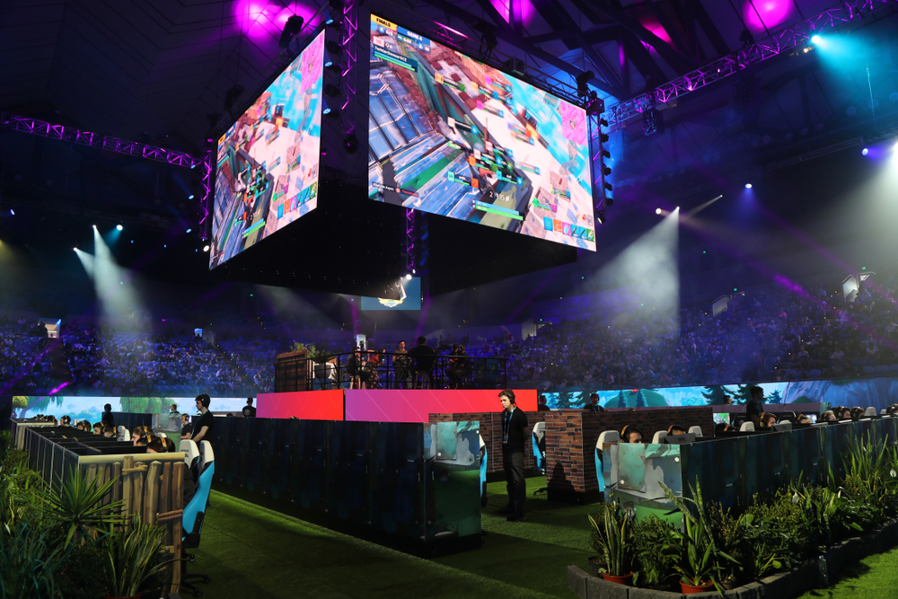 Hundreds Fortnite gamers compete during Fortnite Summer Smash