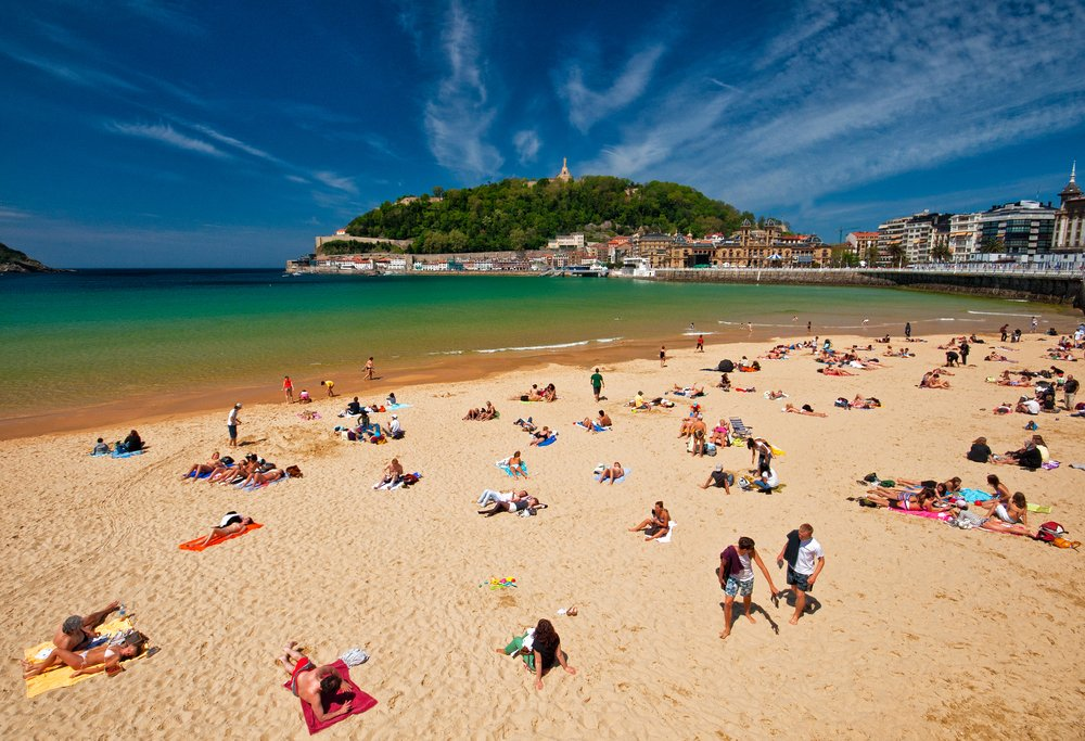 Beach of San Sebastian, Spain