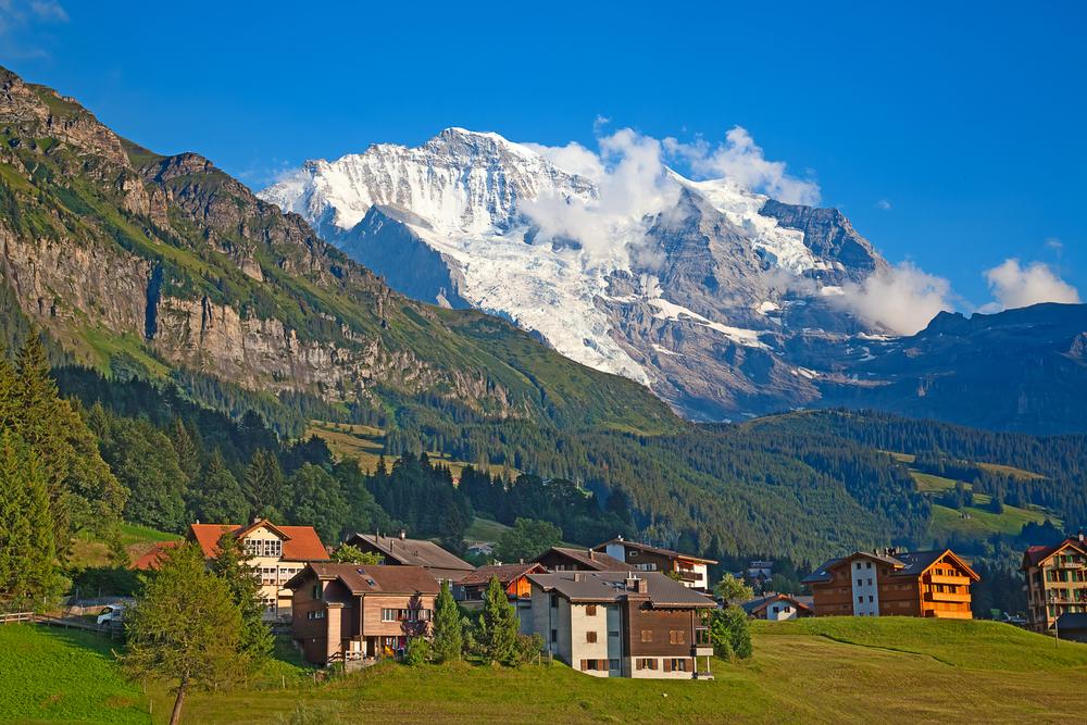 Summer landscape in the Jungfrau region