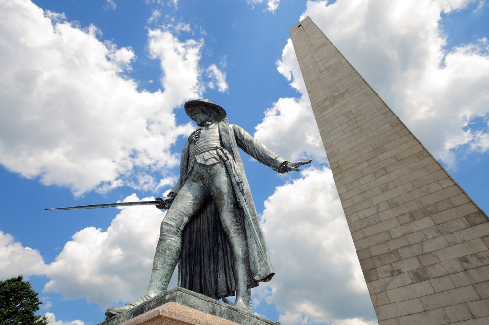 Bunker Hill Monument in Boston, Massachusetts