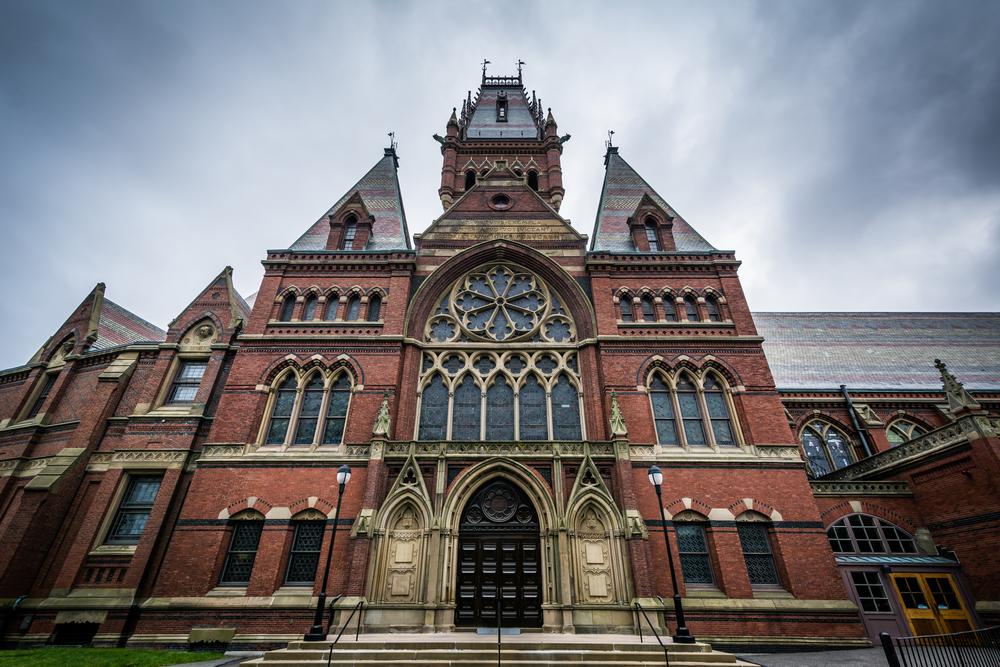 Harvard Memorial Hall, at Harvard University, in Cambridge, Massachusetts