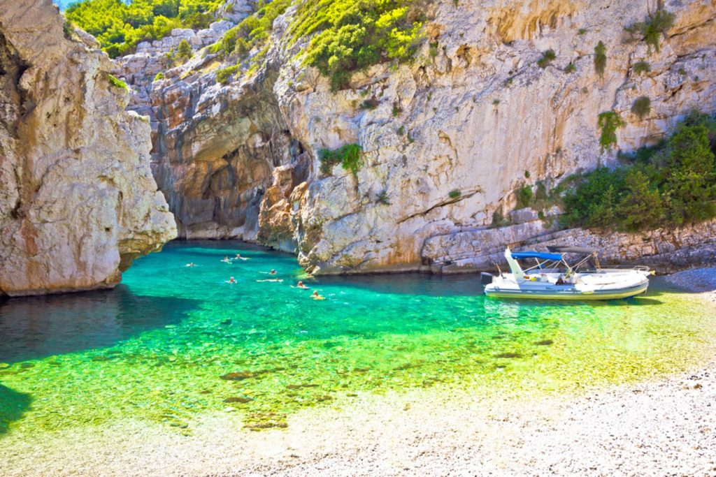 Amazing Stinva beach of Vis island, Dalmatia, Croatia