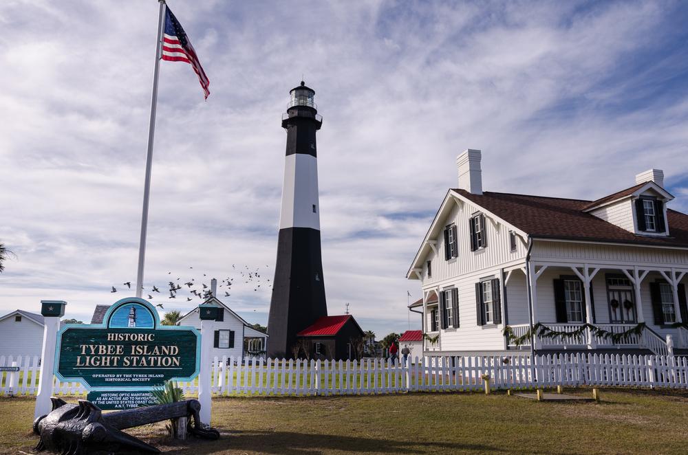 lighthouse barrier island Fort Screven