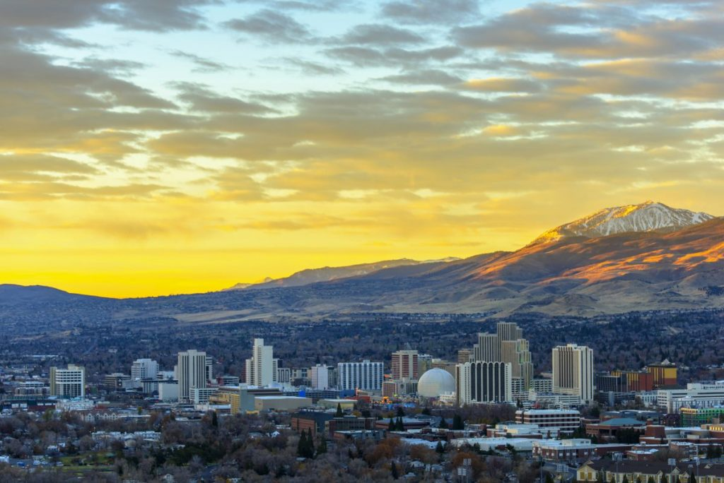 reno skyline at dawn