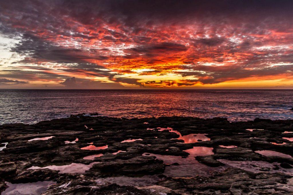 Kaena point sunset